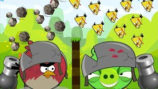 Angry Birds Collection Hacked 1 - CANNON TERENCE GOT BLASTED STONE BY HUGE PIGGIES!