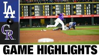 Dodgers vs. Rockies Game Highlights (9/21/21) | MLB Highlights