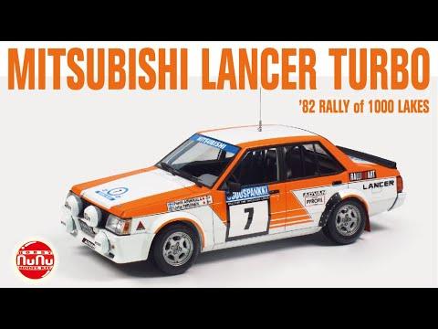 NUNU 1:24 Mitsubishi Lancer Turbo ' 82 RALLY OF 1000 LAKES ' Car Model Kit