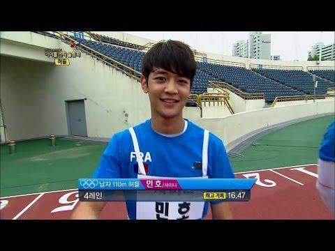 【TVPP】Minho(SHINee) - M Hurdles Final, 민호(샤이니) - 남자 허들 금메달 @ Idol Star Olympics