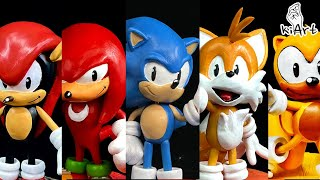 Create Sonic Mania Collection with Clay / Sonic, Tails, Knuckles, Mighty, Ray [kiArt]