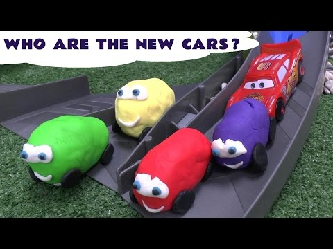 Disney Pixar Cars Play Doh Surprise Egg Stunt Race Cars Surprise Toys Thomas and Friends Angry Birds