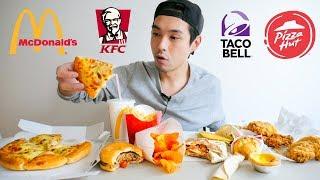 Fast Food Feast Mukbang! - KFC, Taco Bell, McDonald's, & Pizza Hut