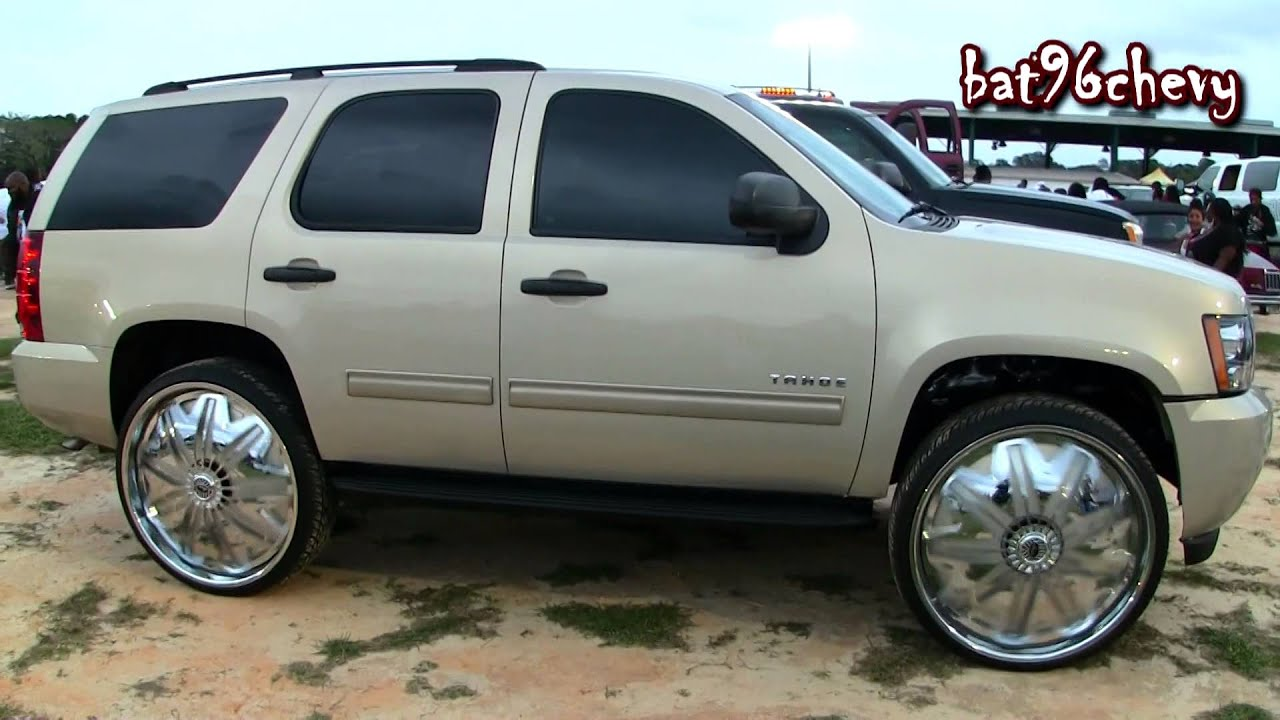 """2010 Chevrolet Tahoe on 30"""" Davin PWRFL Spinners - 1080p ..."""