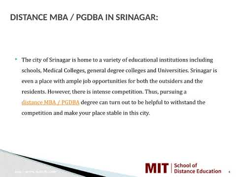 Distance Management Courses | Correspondence MBA | Distance MBA in Srinagar