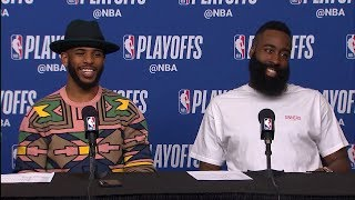 Chris Paul, Harden & Tucker Postgame Interview - Game 5 | Jazz vs Rockets | 2018 NBA Playoffs