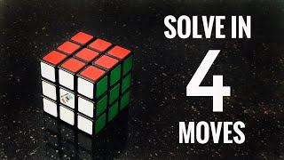How to Solve a Rubik's Cube in 4 Moves