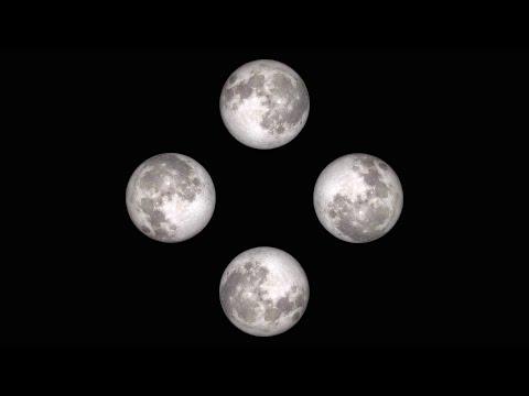 The Moon - Pyramid Hologram Screen Up