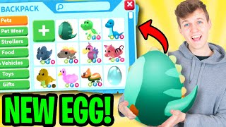 Can We Unlock NEW SECRET ADOPT ME PETS In The FOSSIL EGGS!? (NEW LEGENDARY PETS?!)
