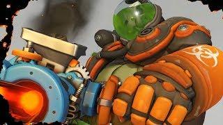 Overwatch - Toxic Roadhog Skin - Gameplay, Highlight Intros, Emotes & More