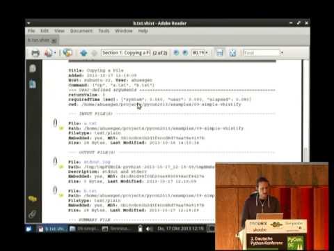 Image from VHIST - Dokumentation von Workflows wissenschaftlicher Python-Anwendungen