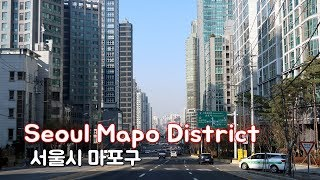 Driving in Seoul - Mapo District(마포구) | Business area in western Seoul.