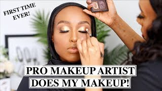 A REAL PRO MAKEUP ARTIST DOES MY MAKEUP...IS THERE A DIFFERENCE?! | Aysha Harun