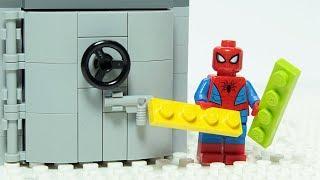 Lego Spiderman Brick Building Vault Superhero Animation Video For Kids