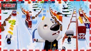 Chơi Talking Tom Gold Run vòng tuyết rơi chú chó Hank chạy lụm vàng cu lỳ chơi gamme lồng tiếng vui