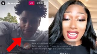 NBA YoungBoy Goes 0ff On Megan Thee Stallion Stan After Clowning Him!?