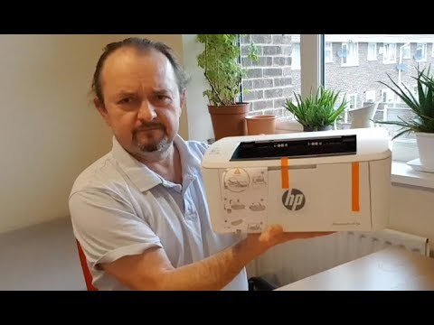 video HP LaserJet Pro M15w Wireless Laser Printer