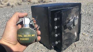 Grenade inside A Safe