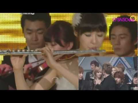 SNSD's reaction to their performances [111229] SM Town Orchestra Gayo Daejun