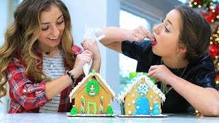 Gingerbread House Challenge | 12 Days of Vlogmas {Day 7} | Brooklyn and Bailey