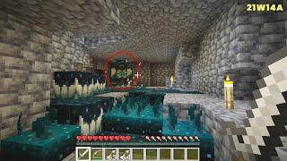 Minecraft Snapshot 21w14a Relaxing Gameplay | Minecraft 1.17 Cave Update | Warden