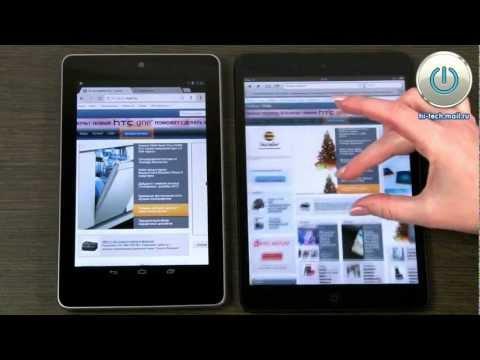 Сравнительный обзор планшетов: iPad mini против Google Nexus 7