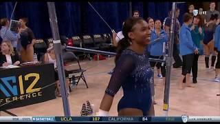 Nia Dennis (UCLA) - Uneven Bars (9.825) - Ohio State at UCLA 2018