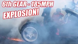 6th Gear Burnout Has INSANE Tire Explosion!