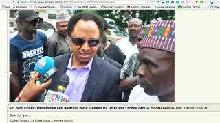 SENATOR SHEHU SANI: HOW TINUBU STOPPED ME FROM DEFECTING TO PDP!