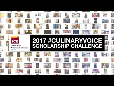 For the 2017 #CulinaryVoice Scholarship Challenge, we asked the world: What is your culinary voice? We were overwhelmed by the response: 254 entrants from 201 countries and territories shared their unique, inventive and inspiring culinary voices -- and the world responded, with the videos garnering a total of 1,864,696 votes and views to help determine our winners. With full and partial scholarships to attend ICE's award-winning career programs, 18 lives will change forever.