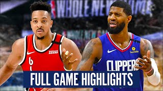 LA CLIPPERS vs PORTLAND TRAIL BLAZERS - FULL GAME HIGHLIGHTS | 2019-20 NBA Season