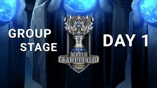 2018 World Championship: Group Stage Day 1