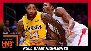 Los Angeles Lakers vs LA Clippers Full Game Highlights / Week 1 / 2017 NBA Season