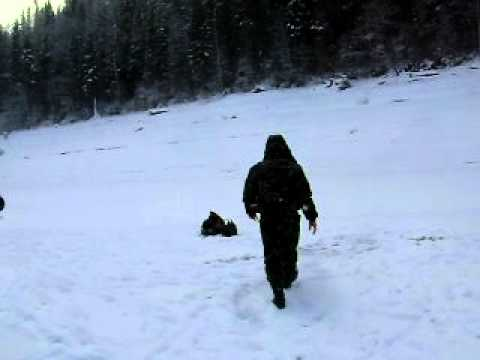 зимняя рыбалка на чертик Петровича.AVI