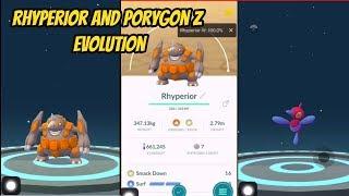 L40 Rhyperior Evolution   Porygon Z Evolution   Pokémon Go  Gen 4   Sinnoh Stone