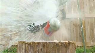 Anvil vs. Shaving Cream! (slow motion)