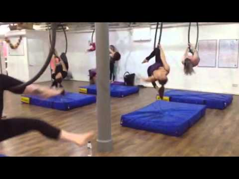 Time Warp Aerial hoop Level 3 and 4 Routine blush dance Stockport