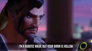 Overwatch Rap Battle   Genji vs Hanzo   #NerdOut!