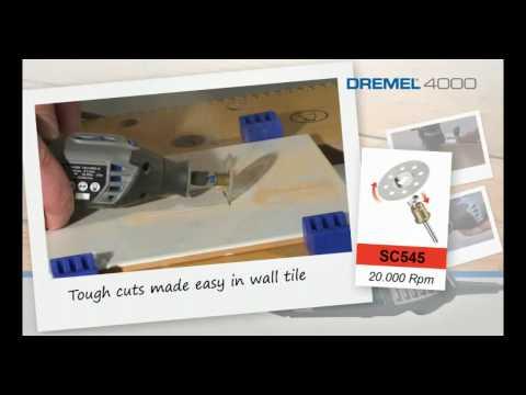 Dremel 4000-4/65 multi tool kit 4 attachments 65 accessories F0134000jr