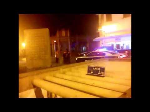 Policía de Querétaro en una Pelea callejera,