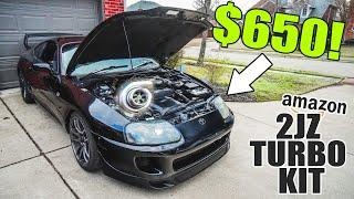 $650 2JZ Turbo kit INSTALL + FIRST START!
