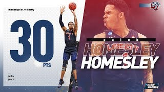 Liberty's Caleb Homesley drops a career-high 30 points to upset Mississippi St.