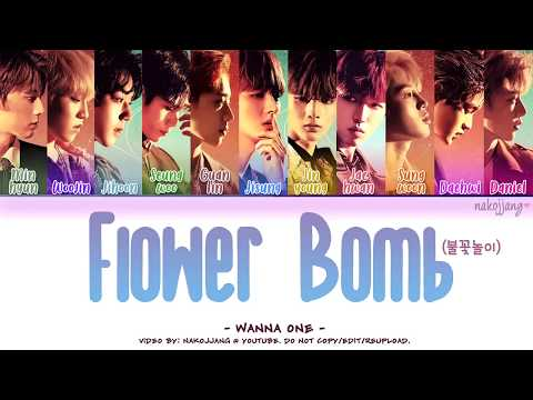 WANNA ONE (워너원) – FLOWERBOMB (불꽃놀이) (Color Coded Lyrics Eng/Rom/Han/가사)
