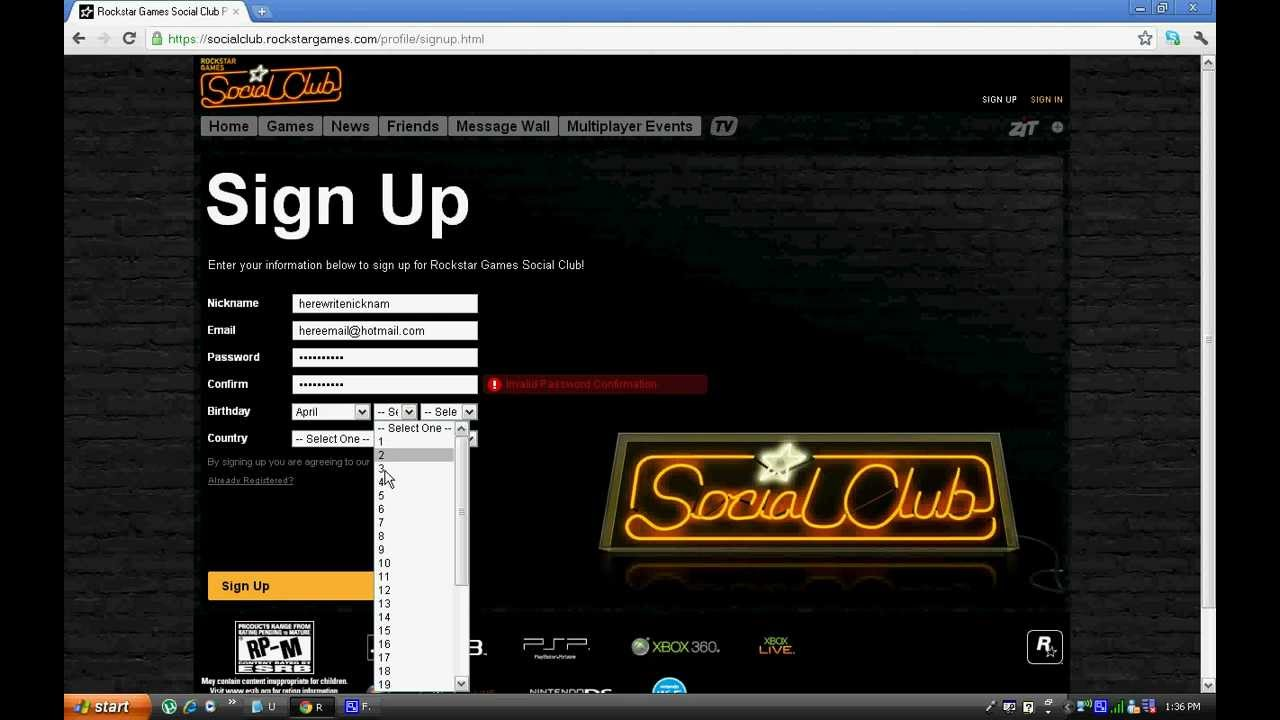 How to Sign up account for Rockstar Games - YouTube
