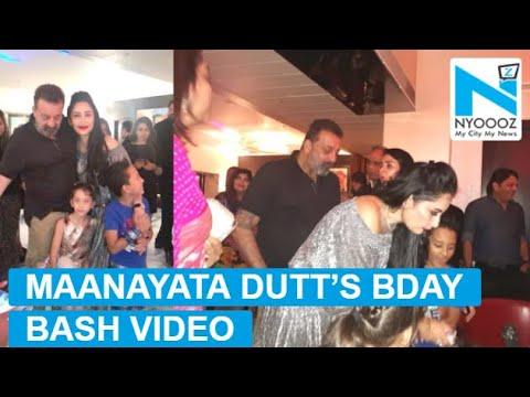 Inside video from Maanayata Dutt's birthday bash