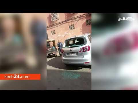 فيديو..تهشيم زجاج أكثر من 30 سيارة بمراكش من طرف مقرقبين