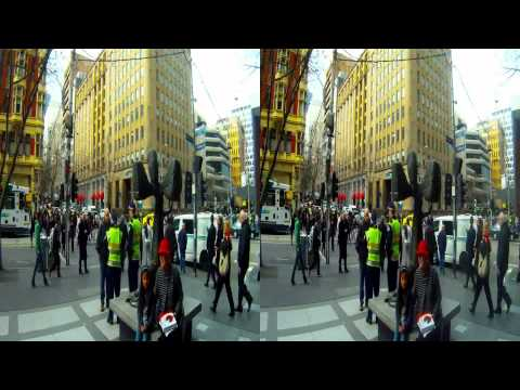 Melbourne Streets and Trams with a GoPro. In 3D or 2D