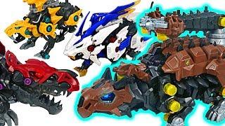 Zoids Wild dinosaur ZW21 Ankyrocks VS ZW12 Death Rex battle! #DuDuPopTOY