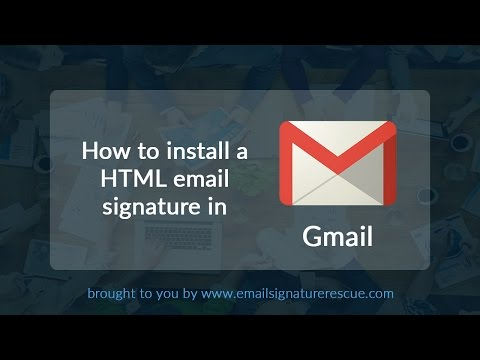 How to install a signature in Gmail