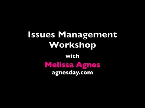 Issues Management Workshop with Melissa Agnes